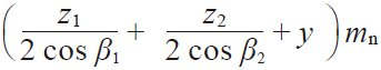 Table 4.21 The equations for a screw gear pair on nonparallel and Nonintersecting axes in the normal system 12