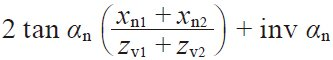 Table 4.21 The equations for a screw gear pair on nonparallel and Nonintersecting axes in the normal system 8