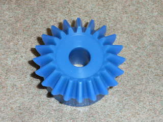 plastic bevel gear before modification