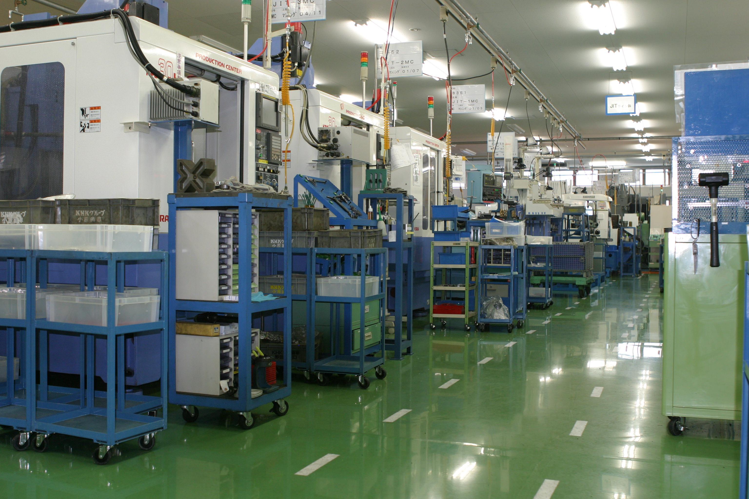 KHK齿轮制造厂内