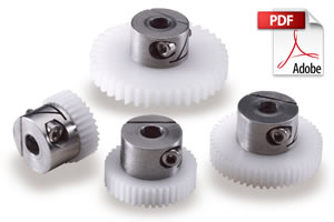 DSL Acetal Fairloc Hub Spur Gears