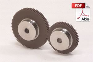 NSU Plastic Spur Gears with Steel Core