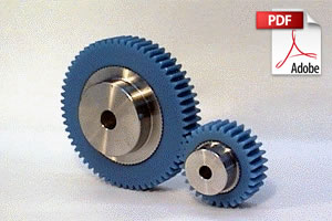 PU Plastic Spur Gears with Stainless Steel Core