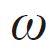 symbol of Angular speed