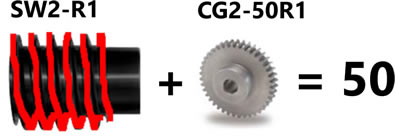 worm gear speed reduction 1